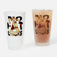 nofatchicks1 png Drinking Glass
