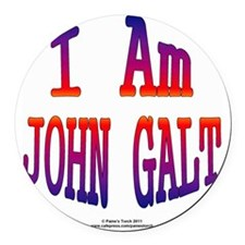 I am John Galt2 Round Car Magnet
