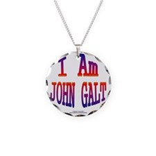 I am John Galt2 Necklace Circle Charm