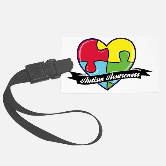 AutismAwareness-heart Luggage Tag