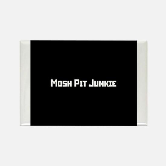 Mosh Pit Junkie Rectangle Magnet