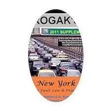 RogakBookCover2011 Oval Car Magnet