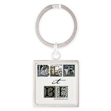 LetItBe6x6 Square Keychain