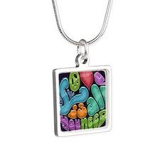 love-need-rnd-OV Silver Square Necklace