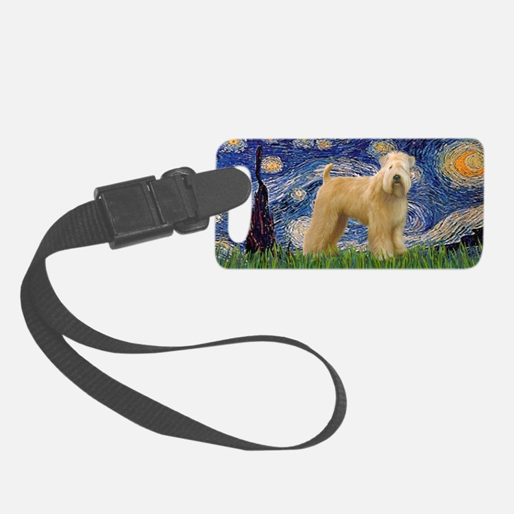 LIC-StarryNight-Wheaten(R) Luggage Tag