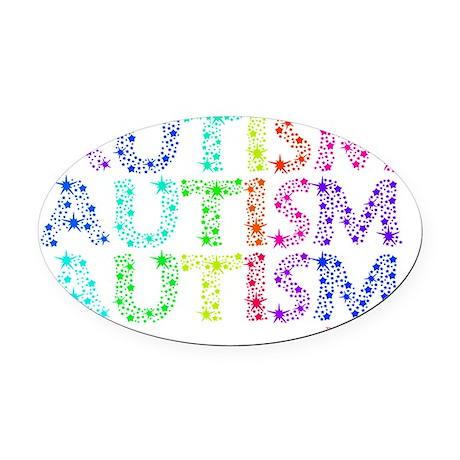 autistic_11 Oval Car Magnet