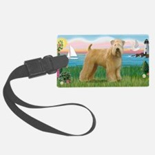 LIC-Lighthouse-WheatenTerrier Luggage Tag