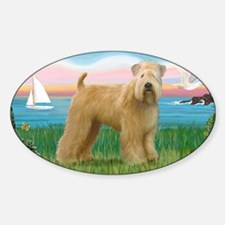 LIC-Lighthouse-WheatenTerrier Sticker (Oval)