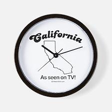 California - as seen on tv Wall Clock