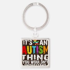 Autism Thing Btn Square Keychain