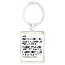 bukowski1 Portrait Keychain