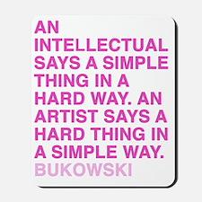 bukowski1_pink Mousepad