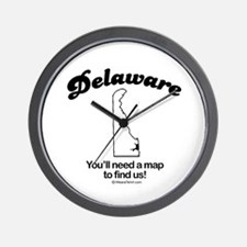 Delaware - you'll need a map to find us Wall Clock