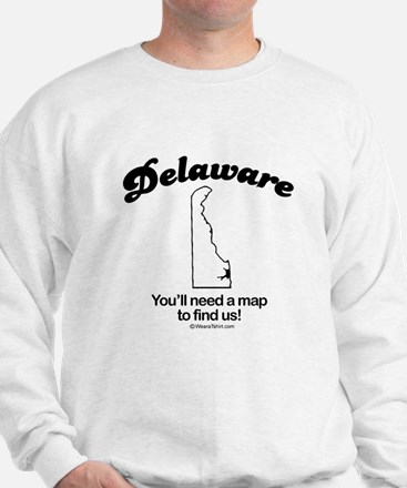 Delaware - you'll need a map to find us Jumper