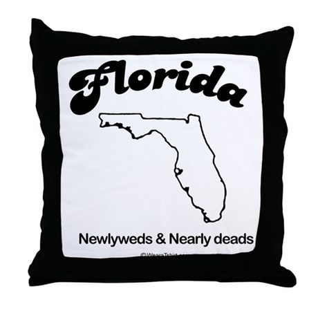 Florida - newlyweds and nearly deads Throw Pillow