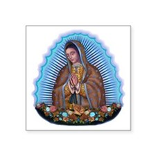 """Lady of Guadalupe T5 Square Sticker 3"""" x 3"""""""