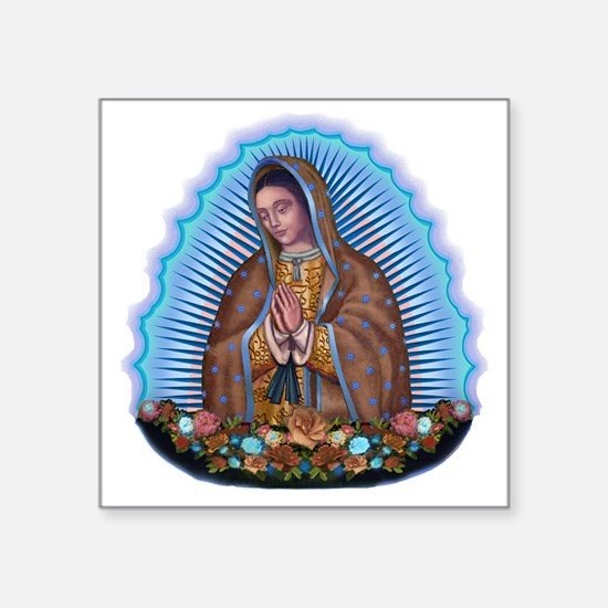 "Lady of Guadalupe T5 Square Sticker 3"" x 3"""