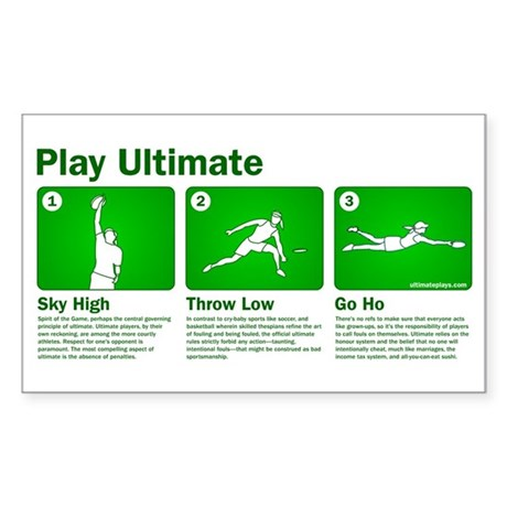 Play Ultimate Rectangle Sticker