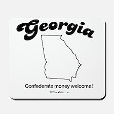 Georgia - confederate money welcome Mousepad