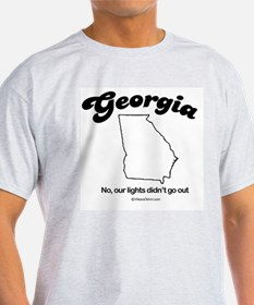 Georgia - no our lights didn't go out Ash Grey T-S