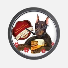Doberman Share A Beer With Your Best Fr Wall Clock