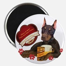 Doberman Share A Beer With Your Best Friend Magnet