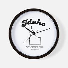 Idaho -ain't nothing here Wall Clock