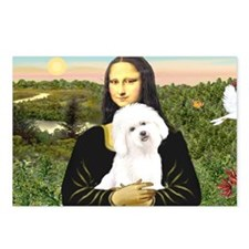 LIC-MonaLisa-Bichon3 Postcards (Package of 8)