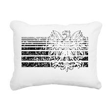 Polish Eagle stripes 2 Rectangular Canvas Pillow