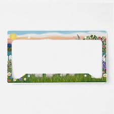 LIC-GardenShore-TwoBichon License Plate Holder