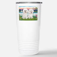 LIC-GardenShore-TwoBichon Travel Mug