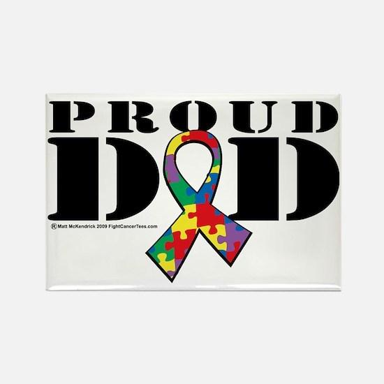 Autism-Proud-Dad Rectangle Magnet