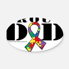 Autism-Proud-Dad Oval Car Magnet