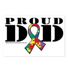 Autism-Proud-Dad Postcards (Package of 8)
