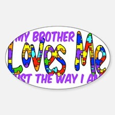 MyBrotherAutism Sticker (Oval)