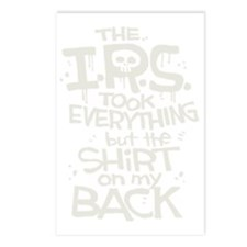 IRS skull reverse Postcards (Package of 8)