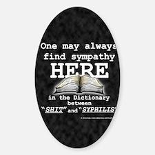 find sympathy jr Sticker (Oval)