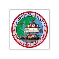 "Chesapeake Bay Patch Square Sticker 3"" x 3"""