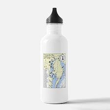 Chesapeake Map Water Bottle