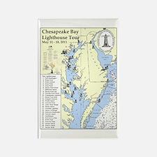 Chesapeake Map Rectangle Magnet