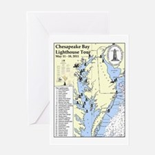 Chesapeake Map Greeting Card