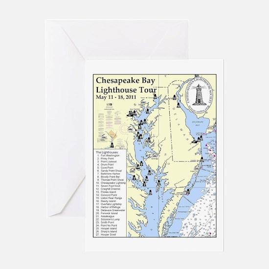 Chesapeake Map Greeting Card