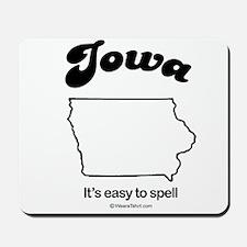 Iowa - easy to spell Mousepad