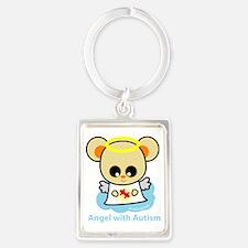 autism angel2 Portrait Keychain