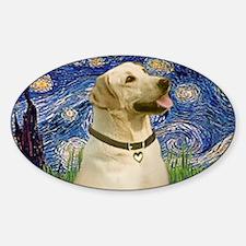 LIC-StarryNight-YellowLab7 Sticker (Oval)