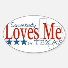 LovesMeTexas Sticker (Oval)