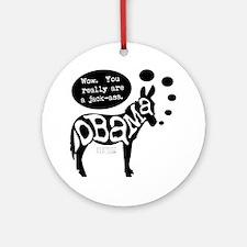 obama_jackass Round Ornament