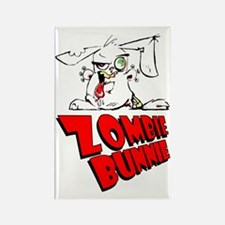 Zombie Bunnie Rectangle Magnet