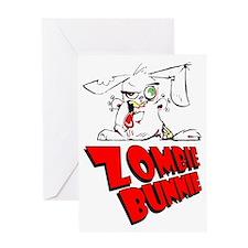 Zombie Bunnie Greeting Card