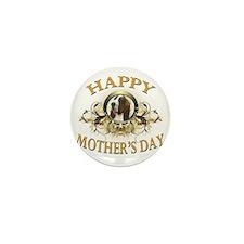Happy Mothers Day Bassett Hound Mini Button